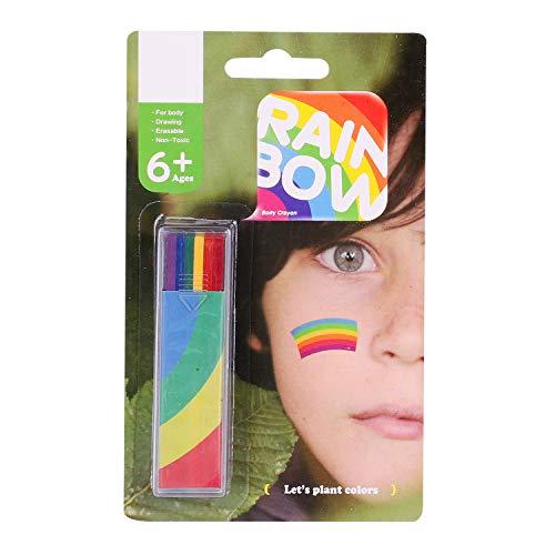 Rainbow Face Paint Face Painting Kit Gay Lesbian Pride Flag Color Face Paint LGBT Gay Pride Flag Face Body Painting Supplies Pocket Size Marches Events Festival Face Paint Makeup Palette