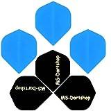 MS-DARTSHOP Dart-Flight Nylon Standard, 3 Satz = 9 Stück (Hell-Blau)