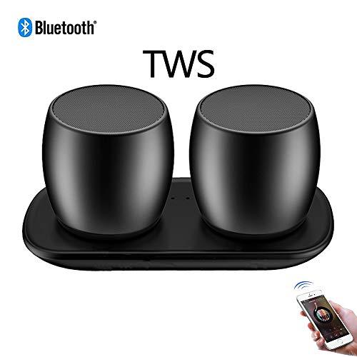 Speaker-EJOYDUTY TWS Mini Bluetooth-luidspreker voor mobiele telefoon, met superieure stereogeluid, IPX5 waterbestendig, 8 uur speeltijd, perfect, draagbare mini-luidspreker, zwart