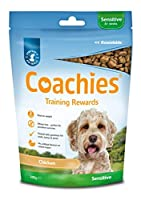 The ideal training treat! Coachies treats are a low-calorie, oven-baked treat that is highly palatable, wheat free and contains Omega 3 & 6; these treats can be fed from 8 weeks Packed with vitamins, minerals and calcium, making treat time healthy, C...