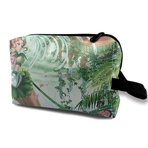 Bolsa de maquillaje de viaje con bolsa de aseo portátil de bolsas cosméticas de muñeca con tirador