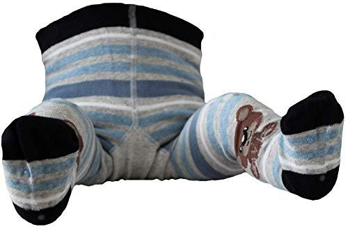 C-Strümpfe Baby Krabbelstrumpfhose grau blau Teddy 74-80