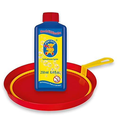 PUSTEFIX Grote ring I 250 ml zeepbellenwater I Bubbles Made in Germany I Zeepbellen speelgoed voor kinderverjaardag, bruiloft, zomerfeest I Grote zeepbellen bellen voor kinderen en volwassenen