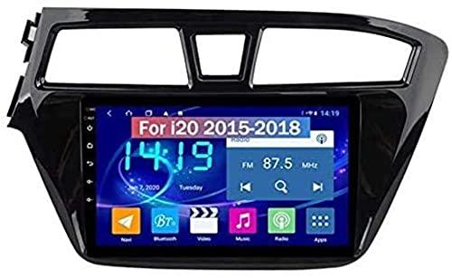 para Hyundai I20 2015-2018 GPS Navigation Android Doble DIN Sat Nav 9 Pulgadas Coche Estéreo Radio de 9 Pulgadas Pantalla táctil Inversión Video Multimedia Player Video Receptor,4g WiFi 4g+64g