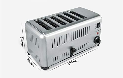 BAOSHISHANポップアップトースターパン焼き機業務用トースター焼き上がりが早いポップアップトースター4枚焼き6枚焼きシルバーグレー220V/50Hzトランスが付属あり1500W(6枚焼き)