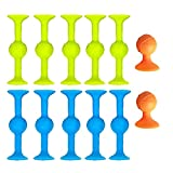 Comyglog Juego de construcción de juguete pequeño nPfe para bricolaje, de silicona, con succión, para educación, juego de spa, 22 unidades