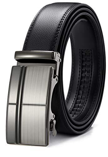 CHAOREN Gürtel Herren, Automatik Gürtel für Männer, Ratsche Ledergürtel 35mm Breit mit Geschenkbox (Schwarz und Braun)
