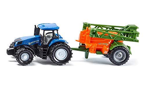 siku 1668, Tractor con fumigadora, Metal/Plástico, Azul/Naranja, Estructura fumigadora móvil