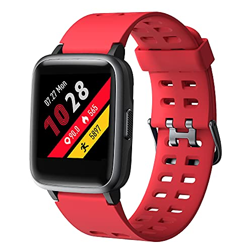 YAMAY Smart Watch for Android and iOS Phone IP68 Waterproof, Fitness Tracker...