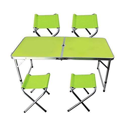 41dvsLJyK4L - JJSFJH Aluminium Außenklapptisch Pendulum Barbecue Camping Zubehör kann über Klappstuhl beweglichen im Freien Picknick-Tisch Adjustable, Folding Camping Tisch mit 4 Stühlen