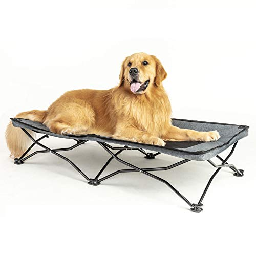 maxpama 47 inches Large Elevated Dog Bed Cot,Cooling Raised Pet Cots for Small Medium Large Dogs&Cats, Indoor Outdoor Dog Travel Cot with Durable Frame, Breathable Mesh