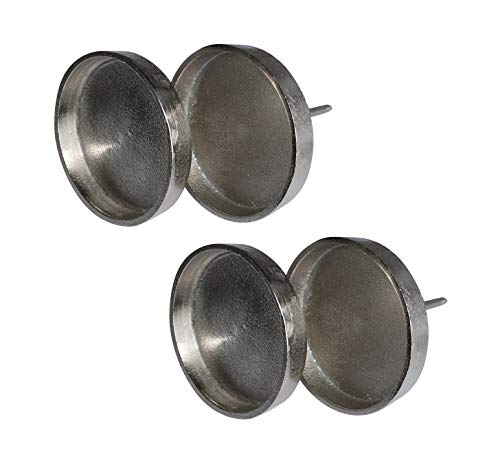 ARTECSIS 4 Kerzenhalter Adventskranz Teelichthalter Alu 8,5cm Kerzenteller zum Stecken Deko