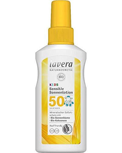 lavera Sensitiv Sonnenlotion KIDS LSF 50+ • Sonnenschutz • Lichtschutzfaktor 50 • Naturkosmetik • vegan • zertifiziert • 100 ml