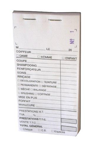 Carnet de caisse avec numéro X10
