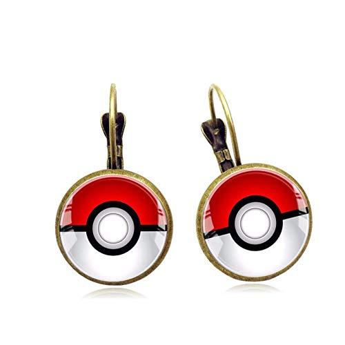 Bosi General Merchandise Pokémon, aretes con Gemas del Tiempo, aretes, Regalos creativos, coleccionables