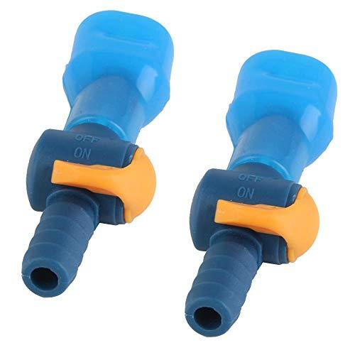 Miner 2 Stuks Blauw Waterzak Drinkrugzak Rechte mond Zuigleiding Mondstuk Bijtklep Past op 7,5 8,5 mm Diameter