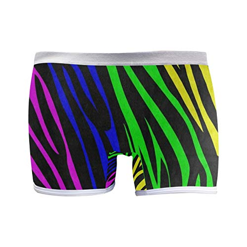 Boxer Briefs Ropa Interior para Mujer Boyshort Panties Soft Rainbow Animal Zebra Print