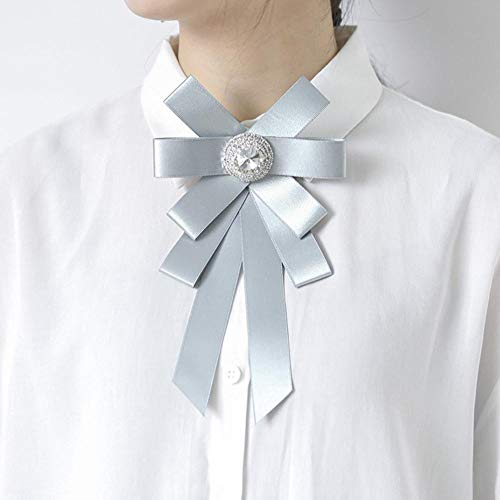 SKYyao Broche Bijoux, Broche Femme Grand Cristal féminin Ruban Satin Bow Broche Broche Chemise Accessoires au Diamant