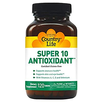 Country Life - Super 10 Antioxidant with Vitamin A, C, E, and Selenium - 120 Tablets