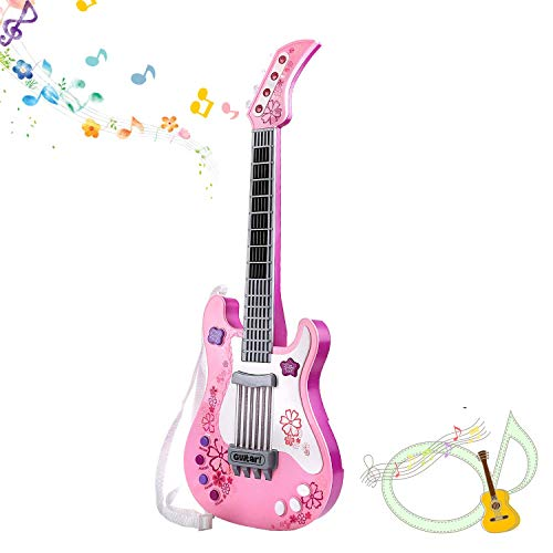 M SANMERSEN Kids Guitar for Girls Boys, Kids Toy Guitar, Pink Guitar Musical Instruments Birthday Gift Party Favor for Kids