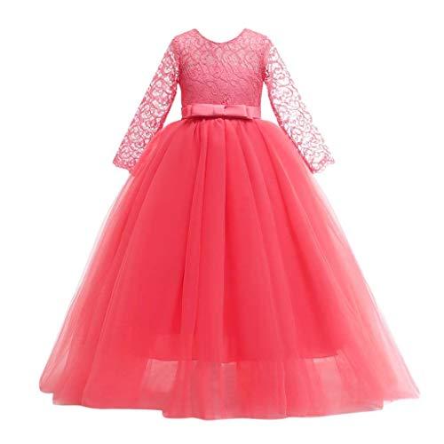 K-Youth Vestido de Dama de Honor de Boda Adolescente Chica Largo Bordado...