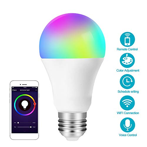 E27 Wifi Smart Light Bulb,dimmable,multicolor,wake-up Lights