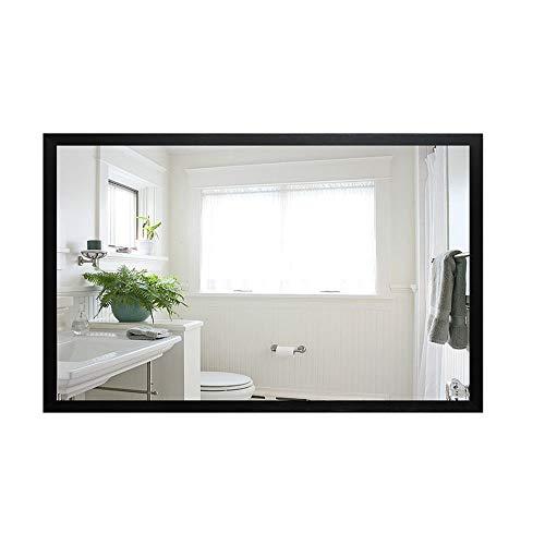 HU WU Badspiegel - HD Spiegel, einfacher, vielseitiger Wandrahmen (Größe: 500 * 700mm)