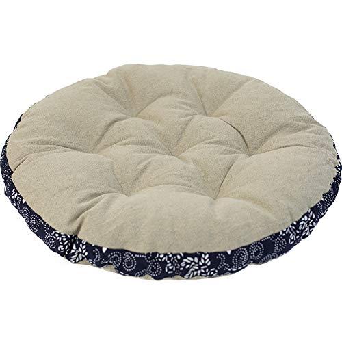 YQ WHJB Redondo Tatami Cojines De Asiento,futón Gran Alfombra Almohada para La Meditación Yoga,Ropa De Algodón Sólido Cojín De La Silla A 52x52cm(20x20inch)