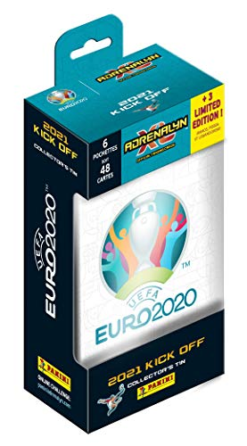 Panini UEFA Euro 2020™ Adrenalyn XL™ 2021 Kick Off Official Trading Cards Collection - Classic Tin
