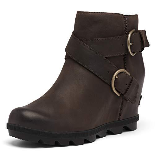 Sorel Women's Joan of Arctic Wedge II Buckle Boot - Rain - Waterproof - Blackened Brown - Size 8.5