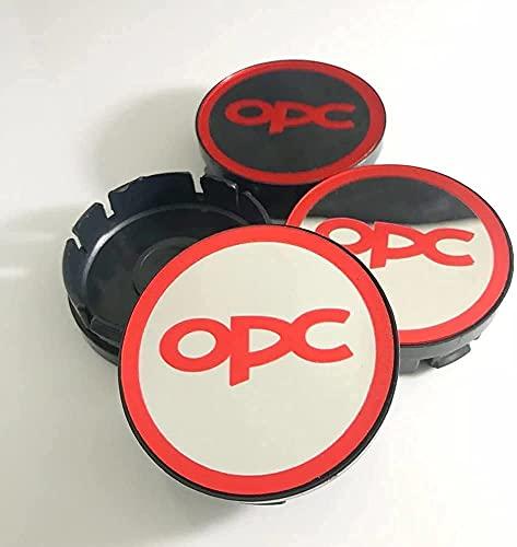 YYHDD 4 Piezas Tapas centrales para Llantas para Opel Astra,Aleación de Aluminio Cubierta Centro Rueda Coche,Tapacubos Logo Insignia Tapa a Prueba de Polvo,Coche Accesorios,60mm