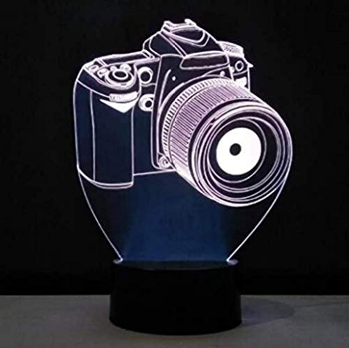 Nieuwigheid 3D Rgb Illusion Nachtlampje Camera LED Lamp USB Tafellamp Romantisch Home Office Decorations Lamp Kids Gifts