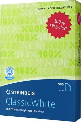 Steinbeis Multifunktionspapier, Classic White 70, A3, 80 g/m², Recycling (500 Blatt), Sie erhalten 1 Packung á 500 Blatt