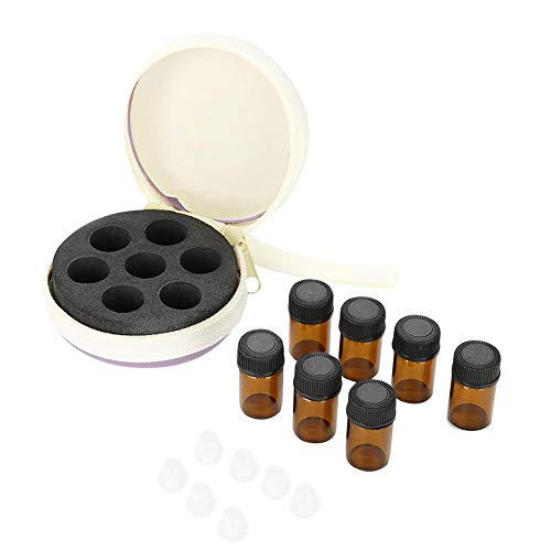 Filfeel Box voor etherische olie, 2 ml fles etherische olie, verpakking van 7 etherische olie + fles etherische olie, compact en voordelig Lavendel