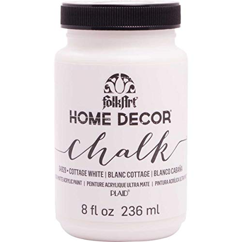 FolkArt 34929 Home Decor Chalk Furniture & Craft Paint in Assorted Colors, 8 ounce, Cottage White