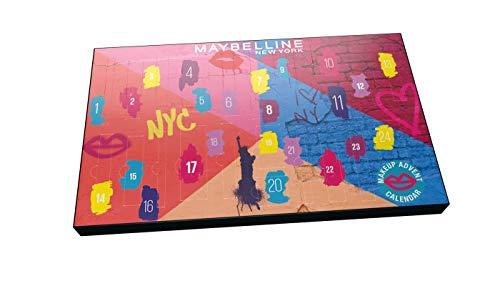 Maybelline New York Calendario de Adviento de Maquillaje con 24 productos tamaño estándar Navidad 2020