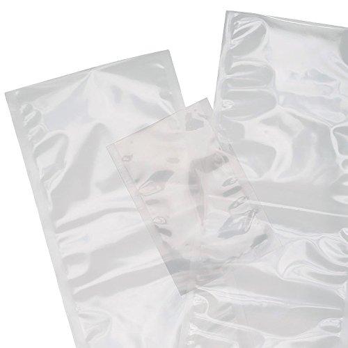 Paquete 100 bolsas para envasar al vacío 200x250 mm NO GOFRADAS - Especial para Envasadoras Profesionales con Campana