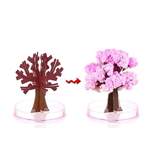 Urisgo Giocattolo Albero in Crescita, Sakura Albero di Carta per Regalo di Natale Ornamento da Scrivania di Capretto per Capodanno