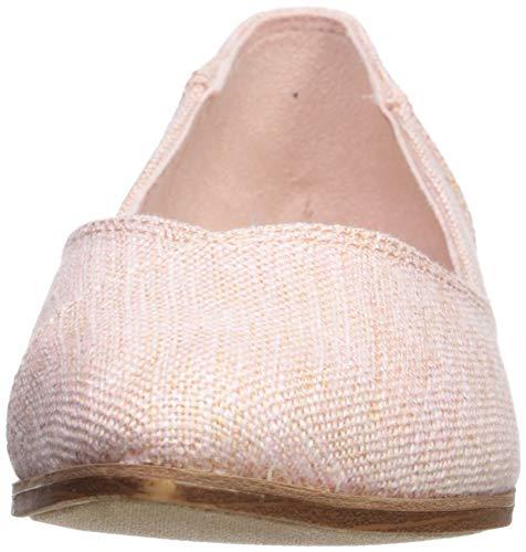 TOMS Women's Jutti Ballet Flat, Pink Slubby Textile, 5 M US