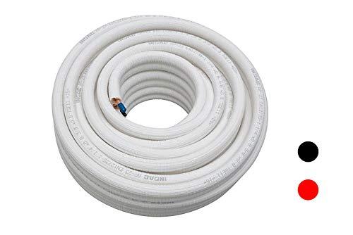 Isolierte Kupfer-Doppelleitung AP-23 | Kältemittelleitung | Kältekupfer 1/4 + 3/8 Zoll | 20m für Klimaanlagen