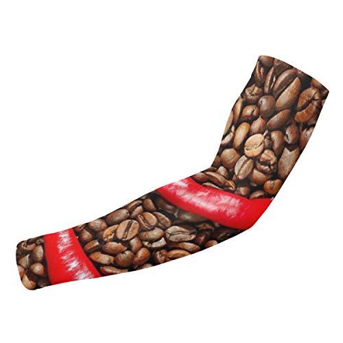 BJAMAJ Rode Peper En Koffie Bonen UV Bescherming Koeling Arm Mouwen Arm Cover Zon Bescherming Voor Mannen & Vrouwen Jeugd Prestaties Stretch & Vocht Wicking