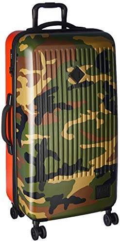 Herschel Trade Dual Spinner, Woodland Camo/Vermillion Orange, 99.0L/34-Inch