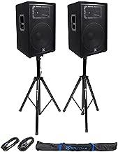 JBL Pro JRX215 Passive DJ P/A Speaker Cabinet Bundle with Rockville RCTS1425 25' 14 AWG 1/4