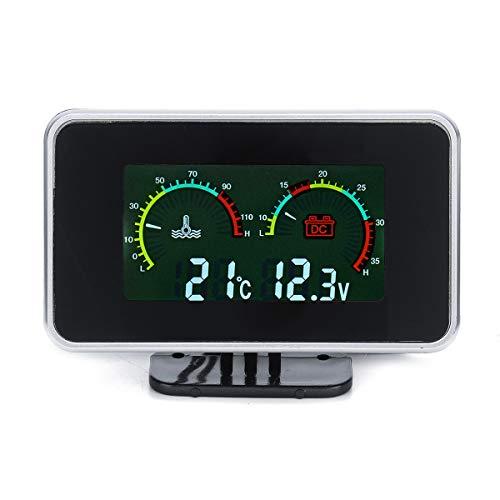 YONGYAO 12V-24V 2 In1 LCD Auto Digitalanzeige Spannungsdruck-/Wassertemperaturmesser Mit Summeralarm