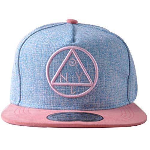 Belsen Hip-Hop Dreieck Muster Cap Baseball Hut (Erwachsene, blau)