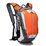 KaiKai Ciclismo Zaino Leggero Portatile Impermeabile Multifunzione 18L Poliestere (Color : Orange)
