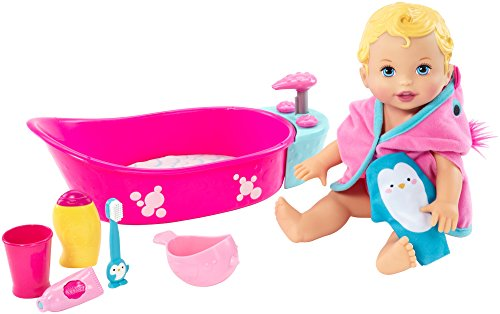 Little Mommy Bubbly Bath Time Baby Dolls