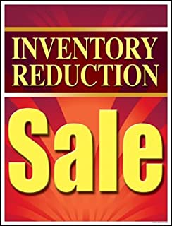 Inventory Reduction Sale Window Sale Sign Posters Retail Business Store Signs (P40-25