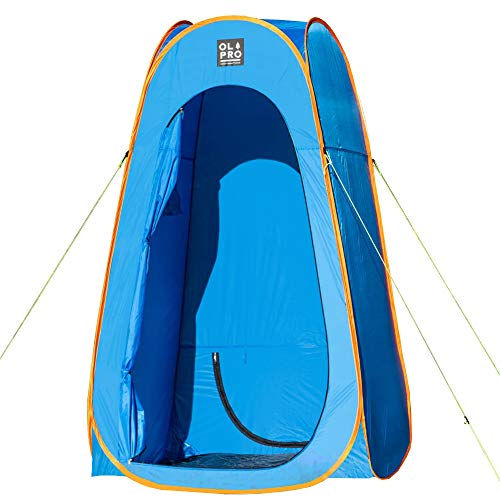 OLPRO Outdoor Leisure Products Shower Tent 1.2m x 1.2m Pop Up Camping Shower Tent Removable Groundsheet Blue