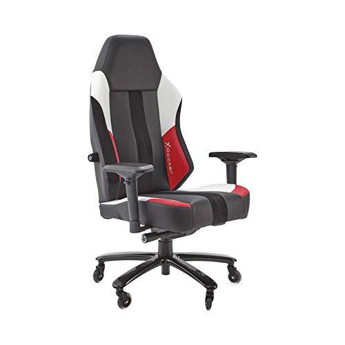 X-Rocker Herren Echo Esports Gaming-Stuhl mit ultimativem Phasenwechsel-Komfort, rot/schwarz, Universal